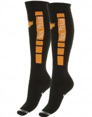 Sun Peaks Moby, billige skistrømper, navy/orange, 2-par