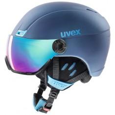 Uvex hlmt 400, skihjelm med visir, blå